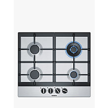 Buy Siemens EC6A5HC90 Gas Hob, Stainless Steel Online at johnlewis.com