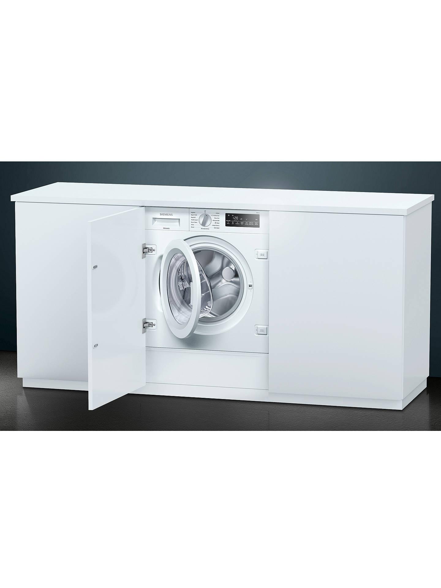 Siemens Washing Machine Built In Integrated Decor Cupboard Door Installation Ki