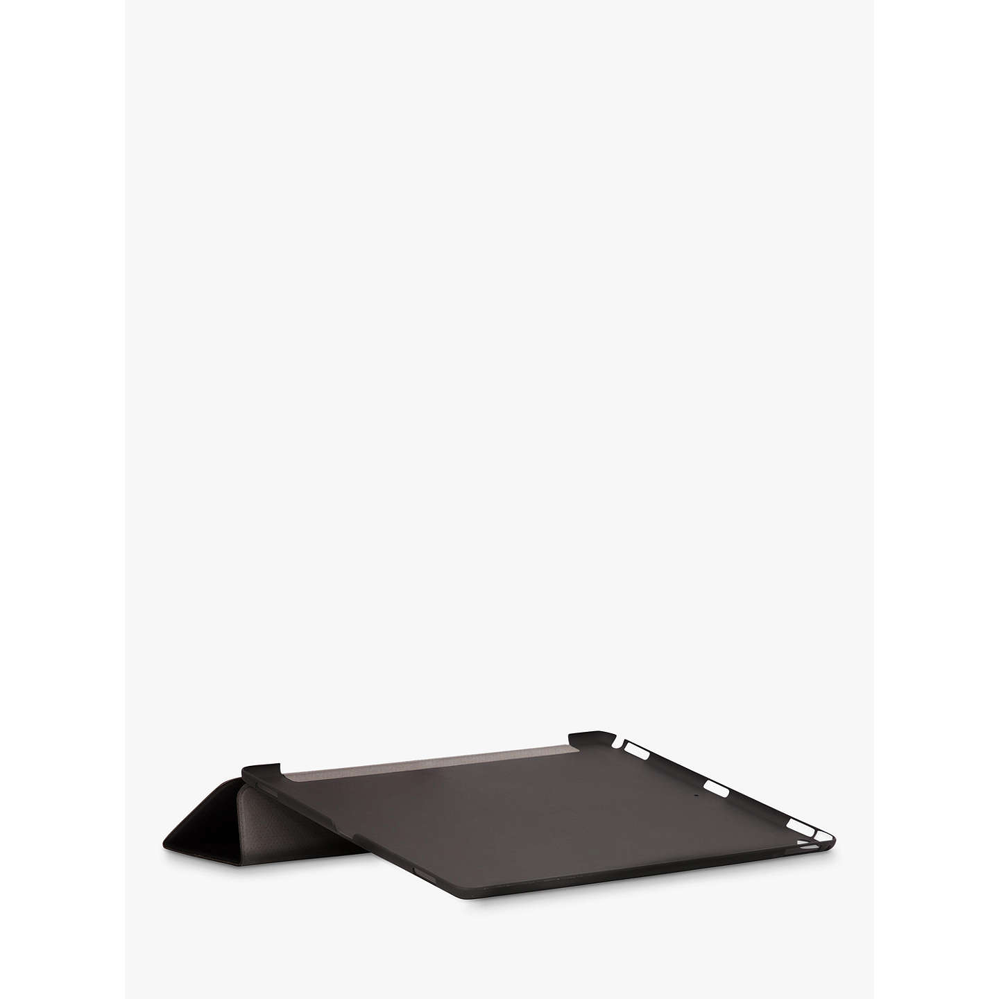 "BuyKnomo Leather Folio Cover for 12.9"" iPad Pro, Black Online at johnlewis.com"