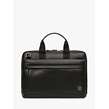 "Buy Knomo Foster Leather Briefcase for 14"" Laptops Online at johnlewis.com"