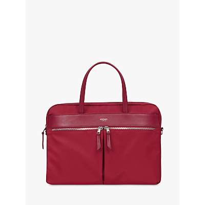 Image of Knomo Hanover Slim Briefcase for 14 Laptops, Cherry Red