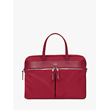 "Buy Knomo Hanover Slim Briefcase for 14"" Laptops, Cherry Red Online at johnlewis.com"