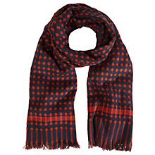 Buy White Stuff Susie Spot Scarf, Red/Navy Online at johnlewis.com