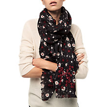 Buy Gerard Darel Elisabetta Wool Scarf, Black/Multi Online at johnlewis.com
