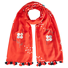 Buy White Stuff Modernity Spot Scarf, Crimson/Multi Online at johnlewis.com