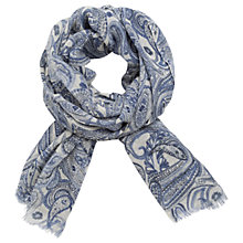Buy Gerard Darel Elicia Wool Paisley Scarf, Blue Online at johnlewis.com