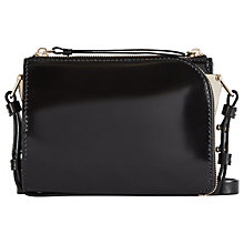 Buy Reiss Mini Arnott Double Pouch Cross Body Bag, Black Online at johnlewis.com