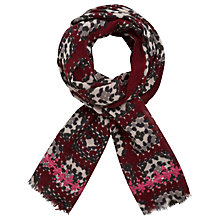 Buy Gerard Darel Elsa Scarf, Red/Multi Online at johnlewis.com