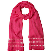 Buy White Stuff Window Pane Scarf, Strawberry Online at johnlewis.com