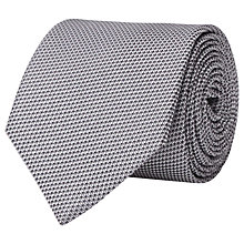 Buy Reiss Woven Bistel Tie, Silver Online at johnlewis.com