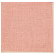 Beam - Wool Pocket Square in Soft Pink, Mens Reiss