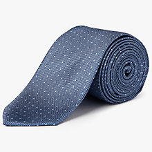 Buy Calvin Klein Pin Dot Silk Tie, Ice Blue Online at johnlewis.com