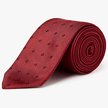 Buy Calvin Klein Dot Silk Tie, Red Online at johnlewis.com
