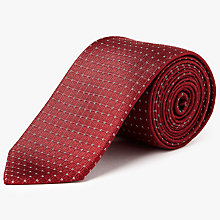 Buy Calvin Klein Connect Silk Tie, Red Online at johnlewis.com