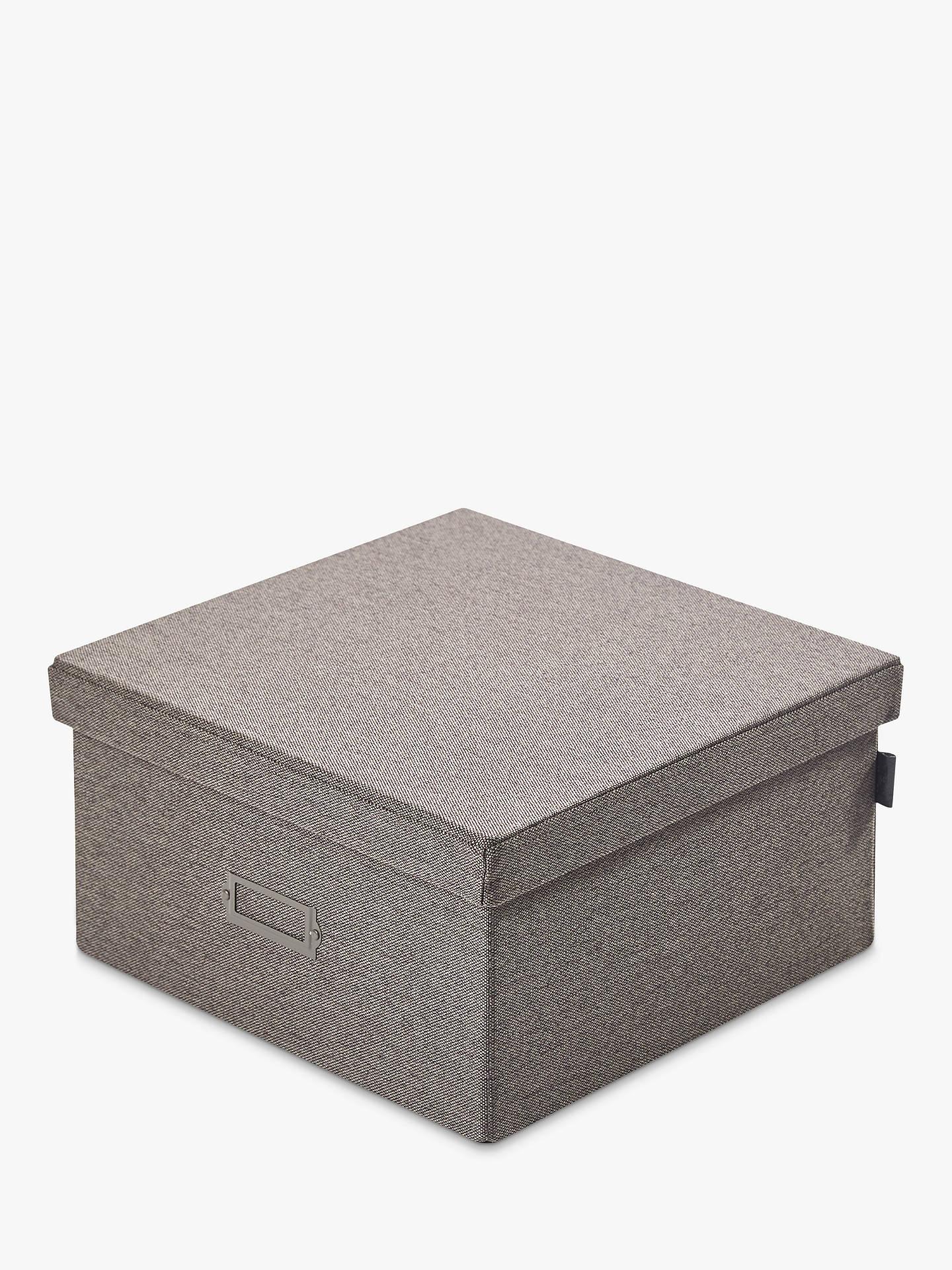 Kvell Stax Storage Box, Small, Grey Mid at John Lewis ...