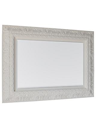 Versaille Ornate Mirror, 125 x 94cm, White