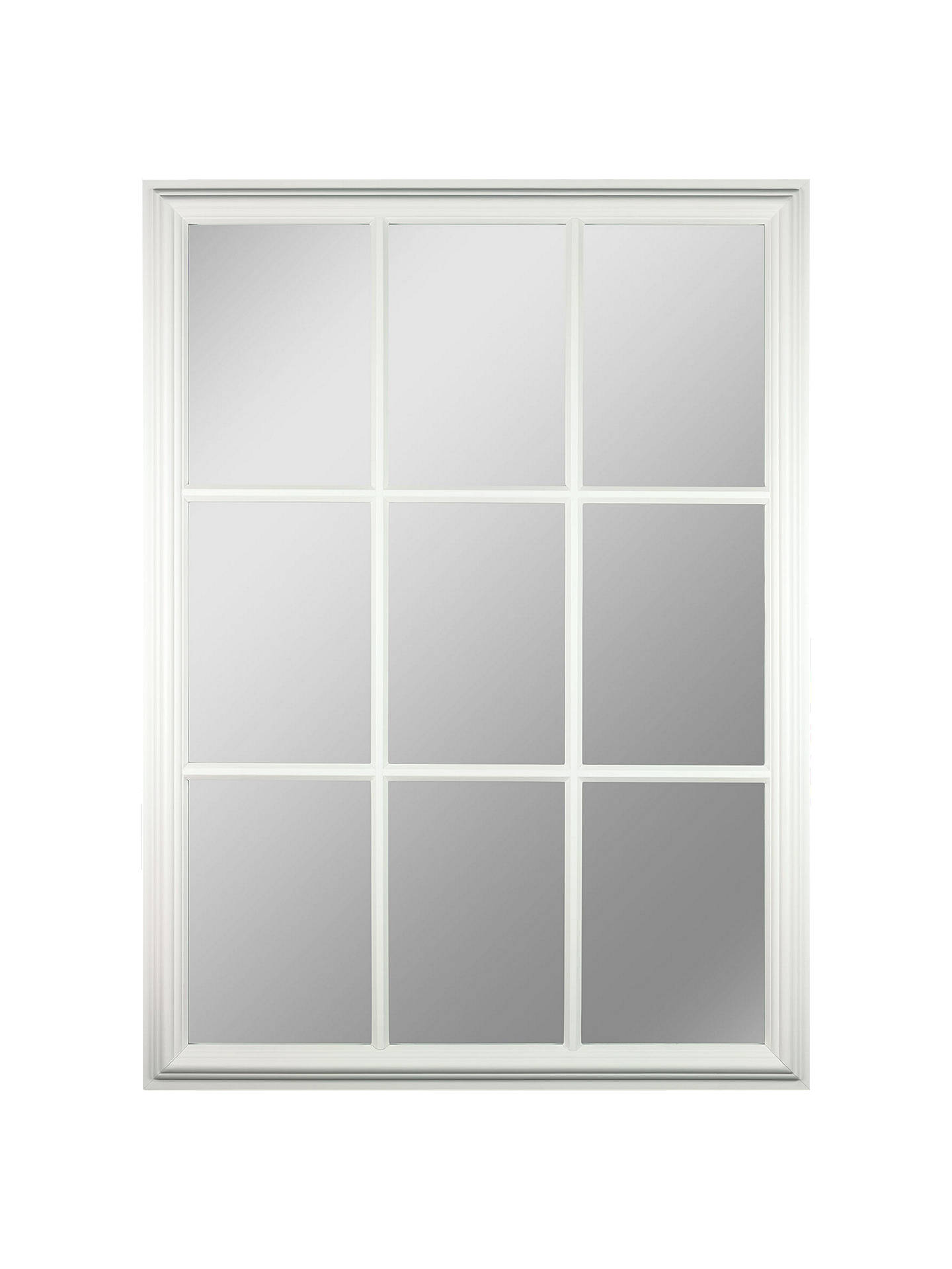 Croft Collection Window Pane Rectangle Mirror H112 X W82cm White Online At Johnlewis