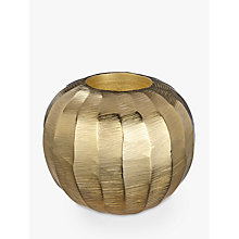 Buy John Lewis Carved Tealight Holder, Gold Online at johnlewis.com