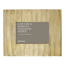 "Buy John Lewis Carved Photo Frame, 4 x 6"" (10 x 13cm), Gold Online at johnlewis.com"