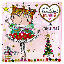 Buy Rachel Ellen Christmas Scribbles Beautiful Daughter Fairy Card Online at johnlewis.com