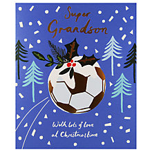 Buy Woodmansterne Football Festive Background Christmas Card Online at johnlewis.com
