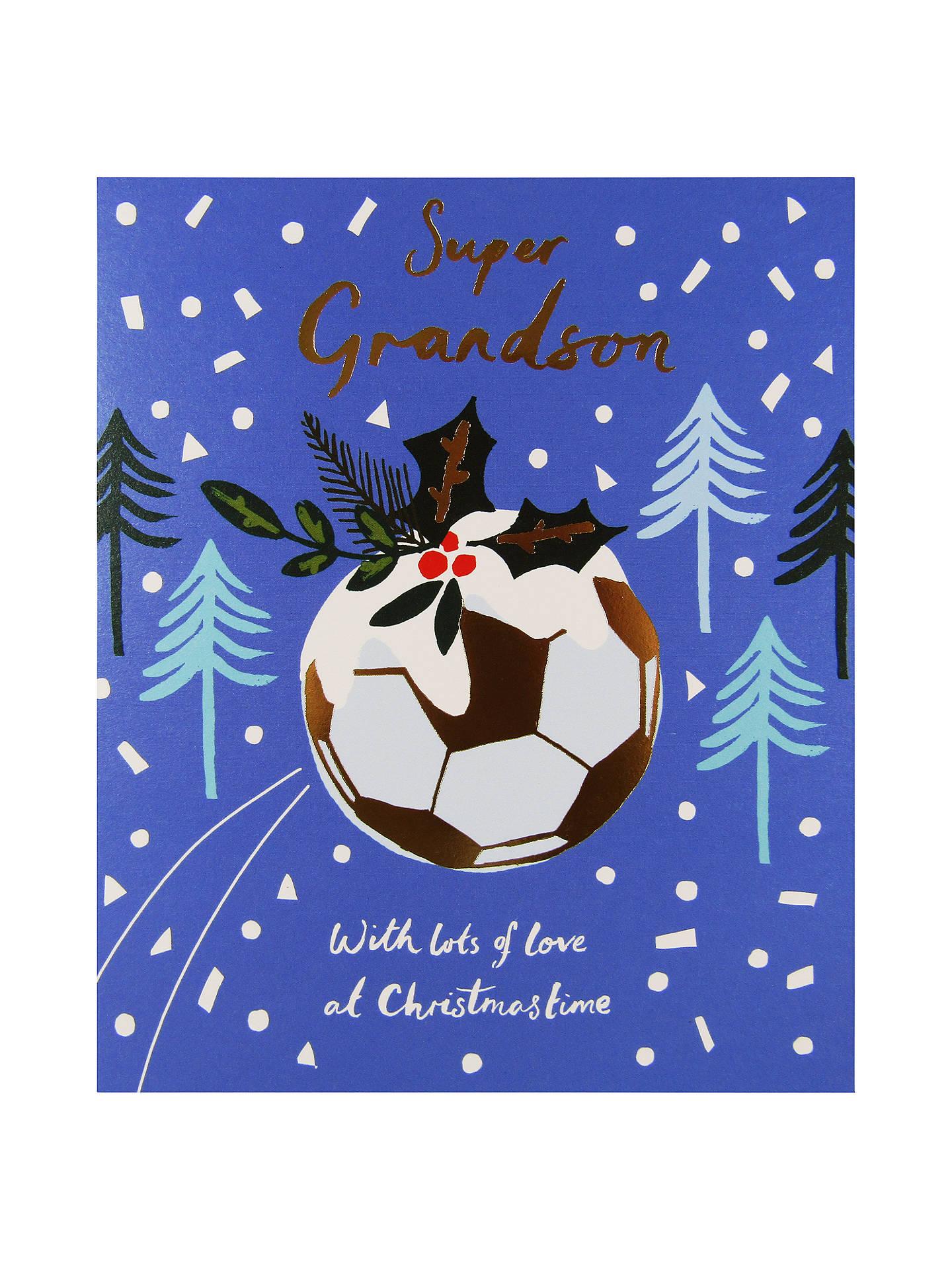 Woodmansterne Football Festive Background Christmas Card at John ...