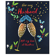 Buy Woodmansterne Champagne Foliage Christmas Card Online at johnlewis.com