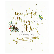 Buy Woodmansterne Festive Pine Cones, Holly and Berries Christmas Card Online at johnlewis.com