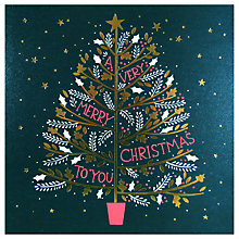 Buy Woodmansterne Tree with Text Christmas Card Online at johnlewis.com