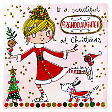 Buy Rachel Ellen Christmas Scribbles Beautiful Granddaughter Card Online at johnlewis.com