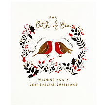 Buy Woodmansterne Festive Robin Foliage Christmas Card Online at johnlewis.com