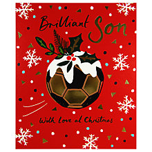 Buy Woodmansterne Football Snowflake Background Christmas Card Online at johnlewis.com