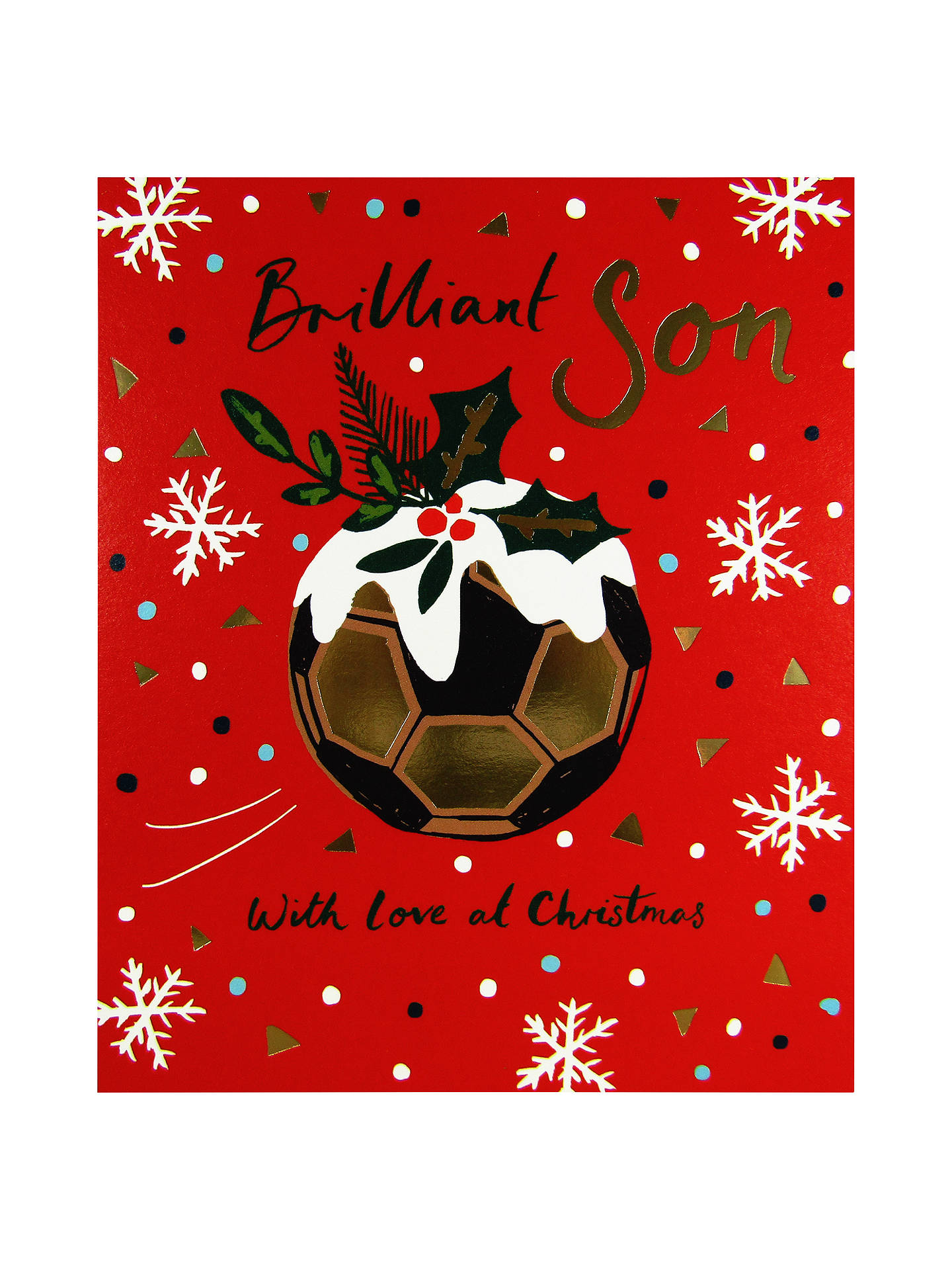 Christmas Sports Background.Woodmansterne Football Snowflake Background Christmas Card