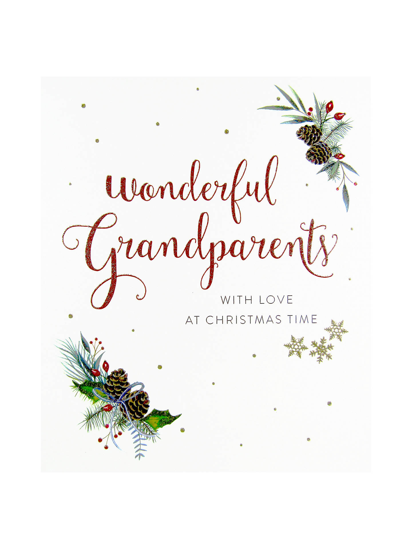 Woodmansterne Festive Holly and Berries Christmas Card at John Lewis ...
