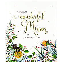 Buy Woodmansterne Festive Orange Peel Foliage Christmas Card Online at johnlewis.com