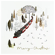 Buy Woodmansterne Winter Steam Train Christmas Card Online at johnlewis.com