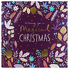 Buy Woodmansterne Foliage Christmas Card Online at johnlewis.com