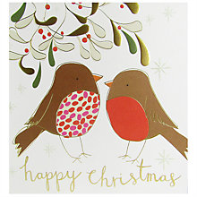 Buy Caroline Gardner Robins Happy Christmas Card Online at johnlewis.com