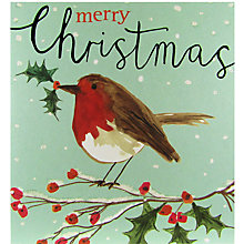 Buy Caroline Gardner Christmas Robin Card Online at johnlewis.com