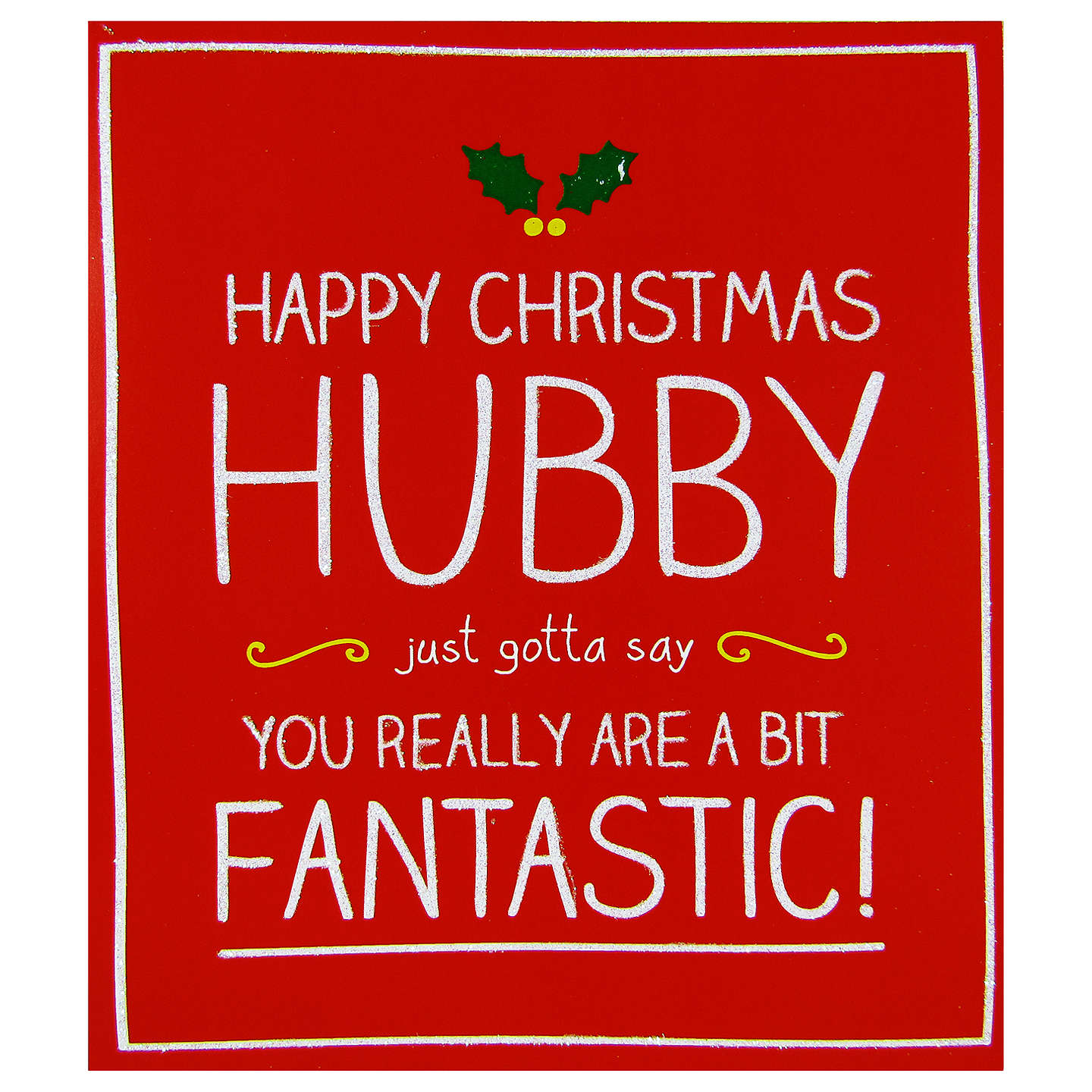 Buyhappy Jackson Husband A Bit Fantastic Christmas Card Online At