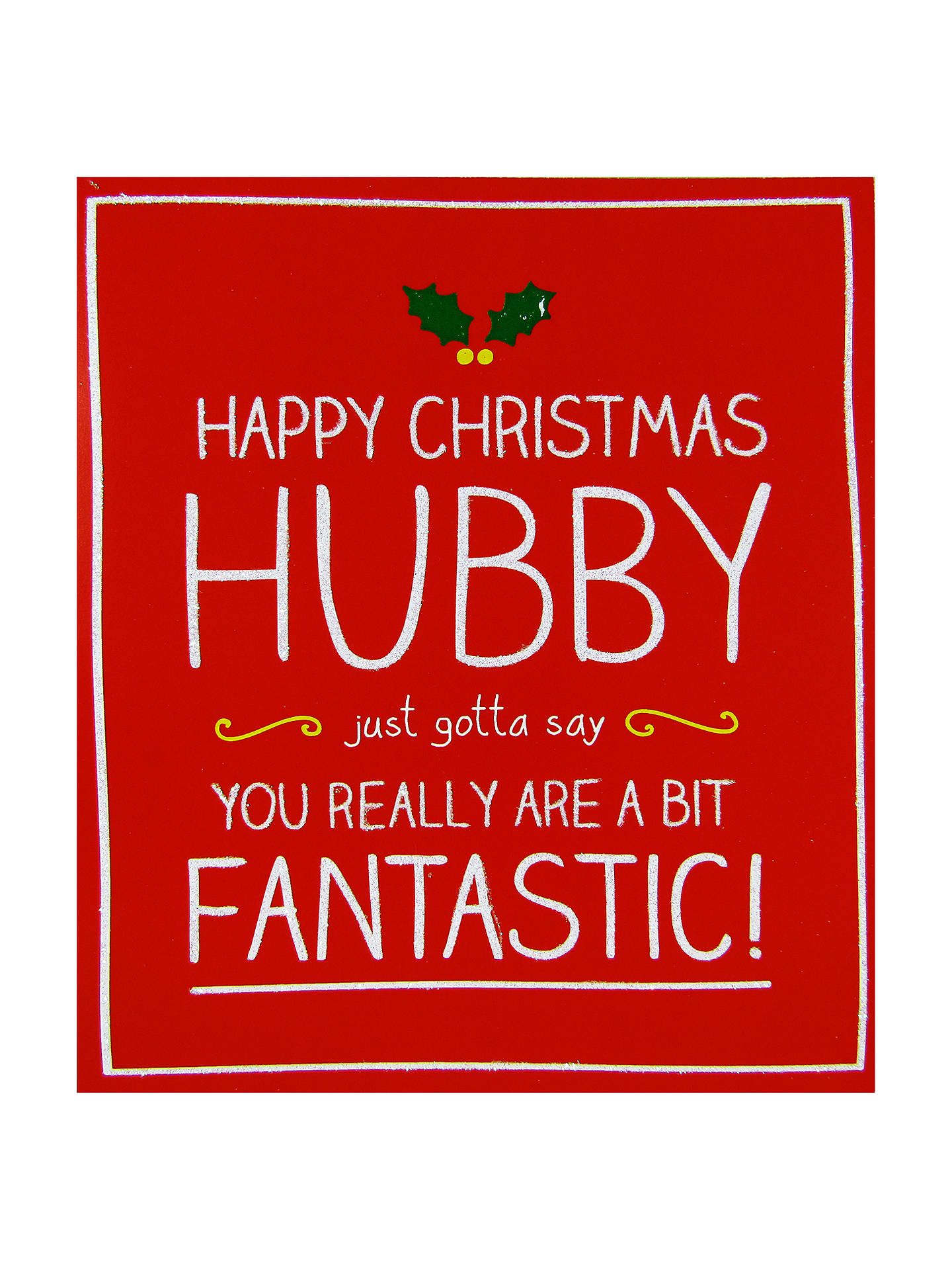 Happy Jackson Husband A Bit Fantastic Christmas Card At John Lewis