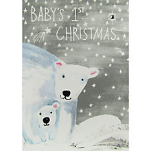 Buy Paper Salad Polar Bear Baby's 1st Christmas Card Online at johnlewis.com