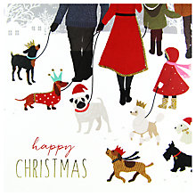 Buy Portfolio Christmas Dogs Card Online at johnlewis.com