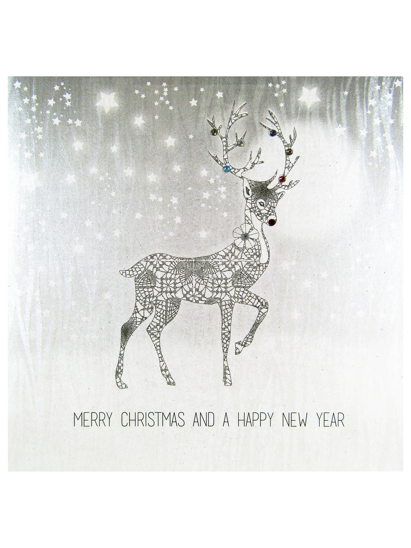 Reindeer Christmas Cards.Five Dollar Shake Reindeer Christmas Card At John Lewis