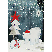 Buy Paper Salad Daddy Polar Bear Christmas Card Online at johnlewis.com