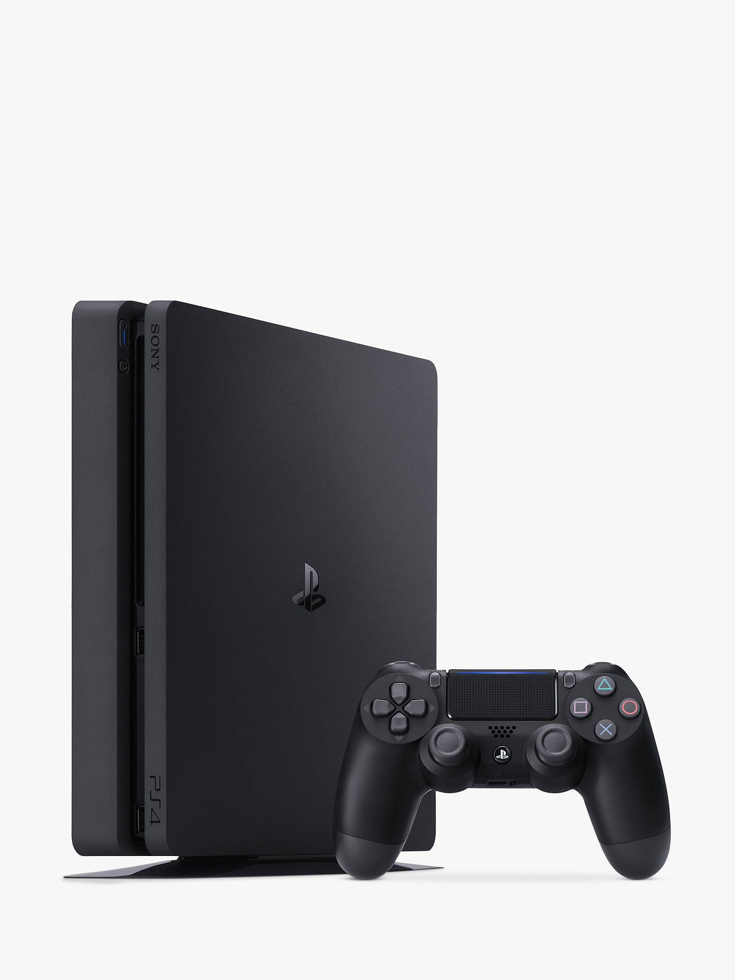 Buy Sony PlayStation 4 Slim Console, 1TB, with DUALSHOCK 4 Controller, Jet Black Online at johnlewis.com