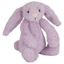 Buy Jellycat Bashful Bunny Soft Toy, Baby, Purple Online at johnlewis.com