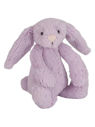 Jellycat Bashful Bunny Soft Toy, Baby, Purple