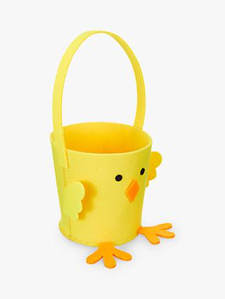 John Lewis & Partners Easter Chick Basket, Yellow