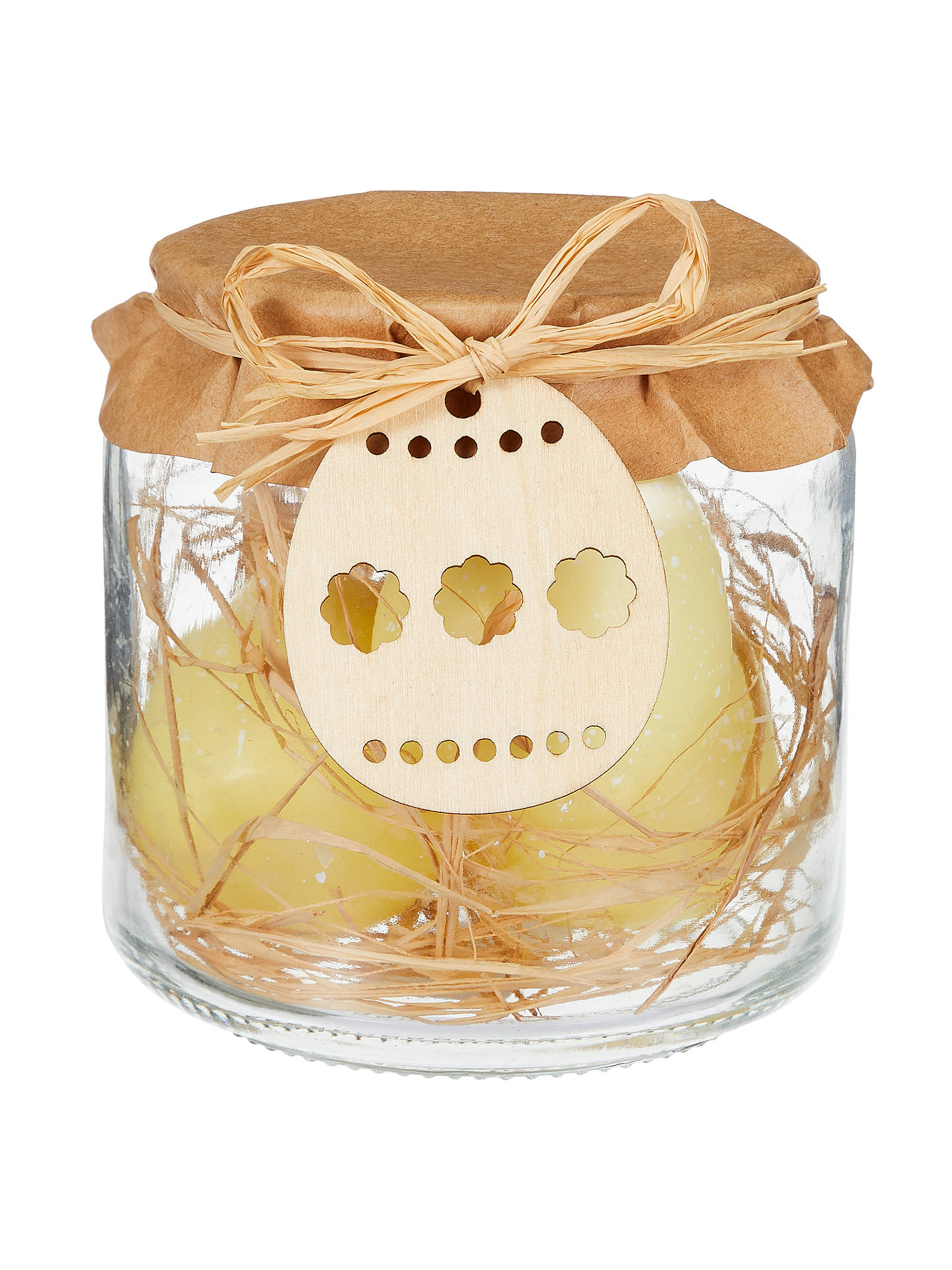 BuyJohn Lewis Mini Egg Candles In A Jar Decoration, Yellow Online at johnlewis.com